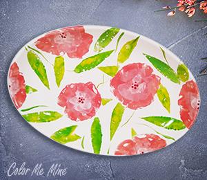Glen Mills Floral Paper Stamping