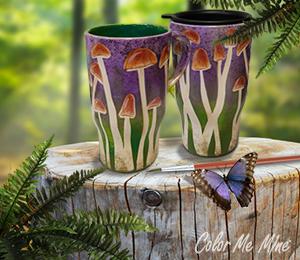 Glen Mills Mushroom Mugs