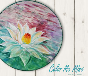 Glen Mills Lotus Flower Plate