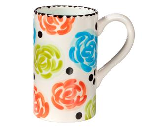 Glen Mills Simple Floral Mug