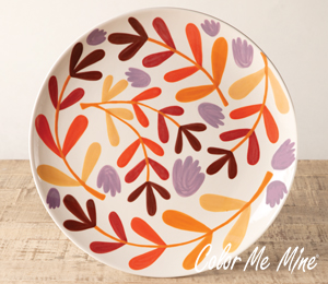 Glen Mills Fall Floral Charger