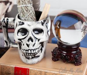 Glen Mills Antiqued Skull Mug