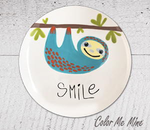 Glen Mills Sloth Smile Plate
