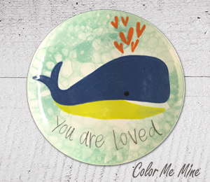 Glen Mills Whale Love Plate