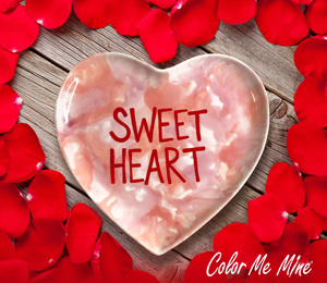 Glen Mills Candy Heart Plate