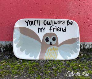 Glen Mills Owl Plate
