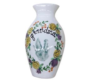 Glen Mills Floral Handprint Vase