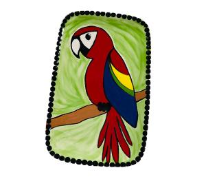 Glen Mills Scarlet Macaw Plate